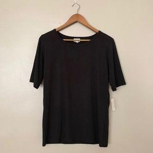 LuLaRoe Solid Black Shirt XL